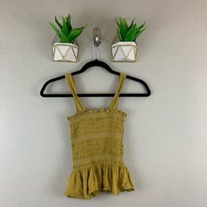 urban outfitters Shirred Crop Tank Top Size Small